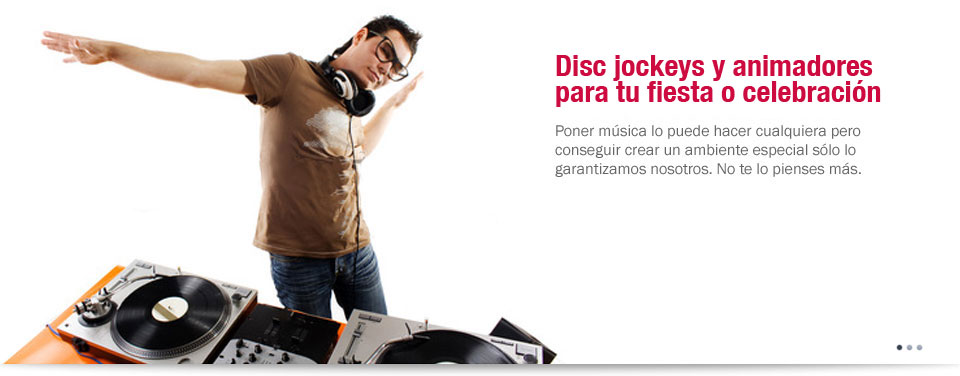 Disc jockeys y animadores